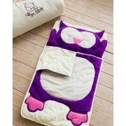 Бавовняний спальний плед-конверт Сова дитячий (розміри від 120 до
