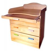 Beech chest of drawers with changing table
